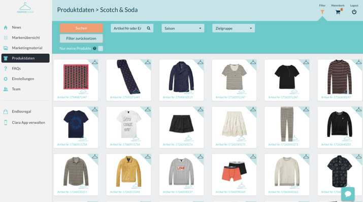 Product informations from scotch&soda
