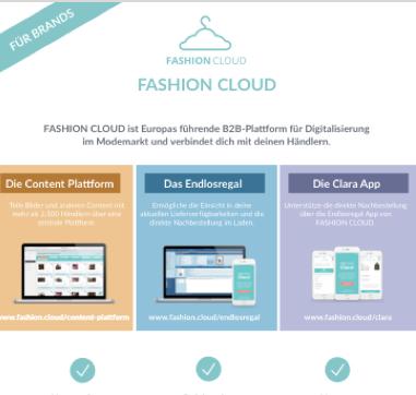 Broschüre Fashion Cloud DE
