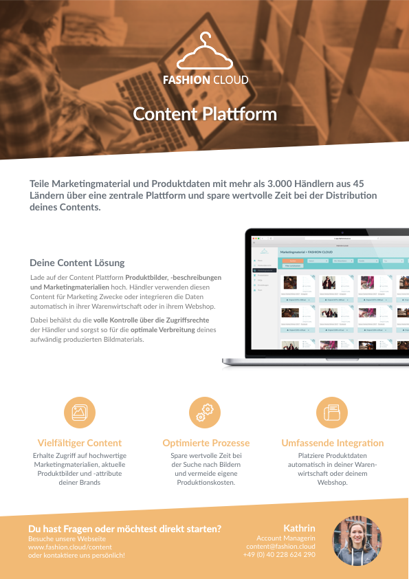 Flyer Content Plattform DE