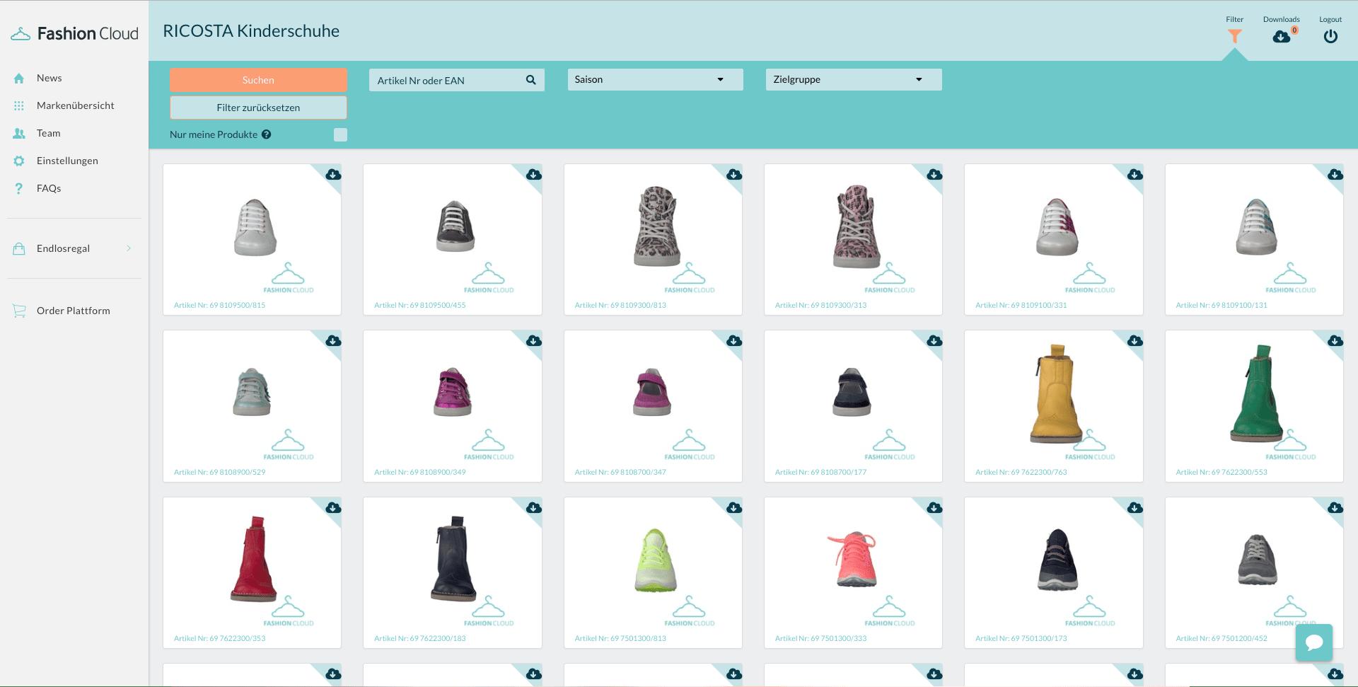 Produktdaten von Ricosta