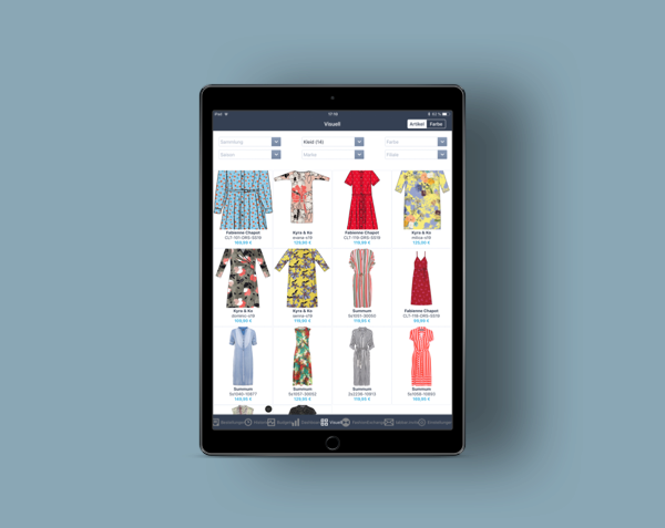 The OrderWriter app from Fashion Cloud