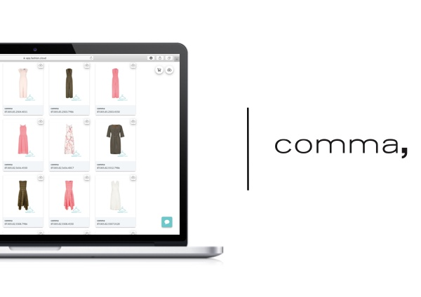 comma and comma casual identity now share content in two languages